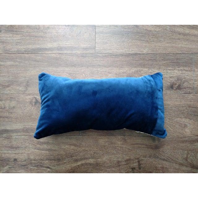Gambrell Renard Gold Leather & Velvet Pillow - Image 4 of 4