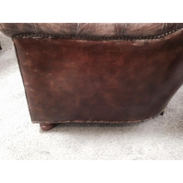 Leather Club Chairs - Pair - Image 8 of 11