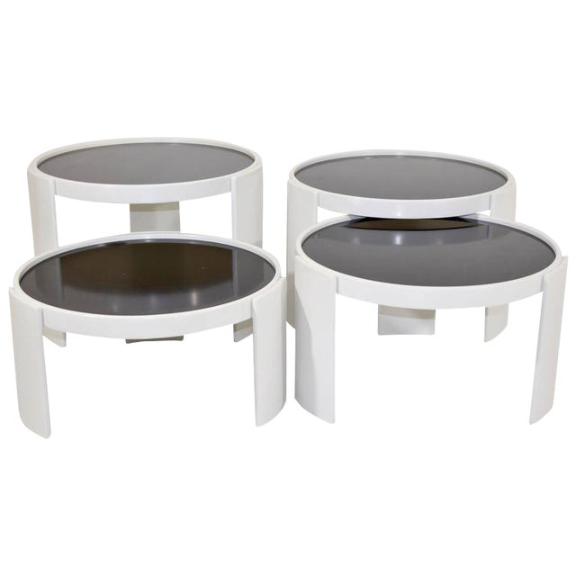 Set of Four Gianfranco Frattini for Cassina Nesting Tables - Image 1 of 6