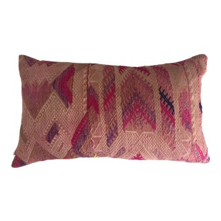 Embroidered Lumbar Throw Pillow Cover