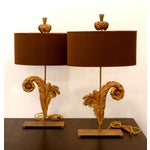 Image of French Acanthus Leaf Lamps - A Pair