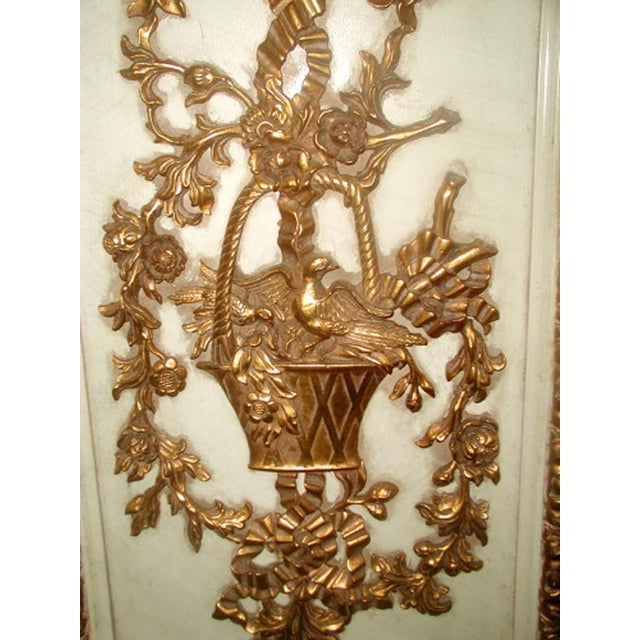 Gilt Decorative Wall Hung Panels - A Pair - Image 4 of 8