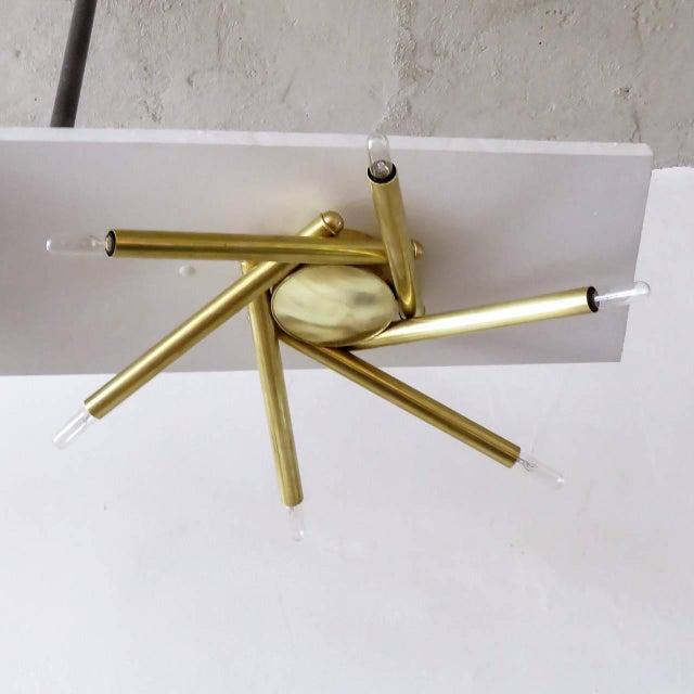 Spiral Six-Arm Brass Flush Mount - Image 3 of 10
