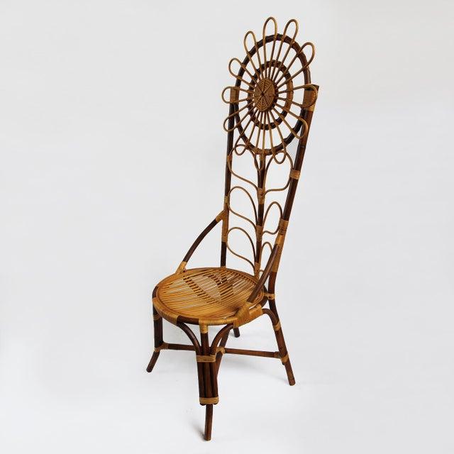 Tall Bamboo Sun Flower Chair - Image 2 of 8