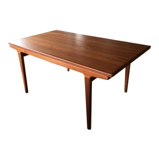 Johannes Andersen Mid-Century Draw-Leaf Dining Table
