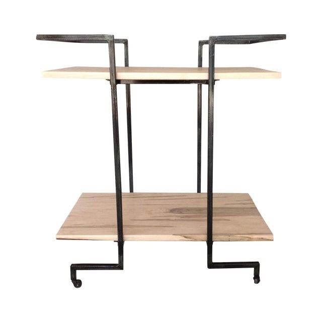 Industrial Modern Bar Cart Chairish