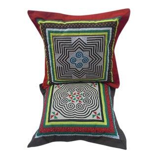 Handmade Graphic Pillows - A Pair