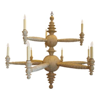 Paul Marra Spool Chandelier Two Tier in Driftwood