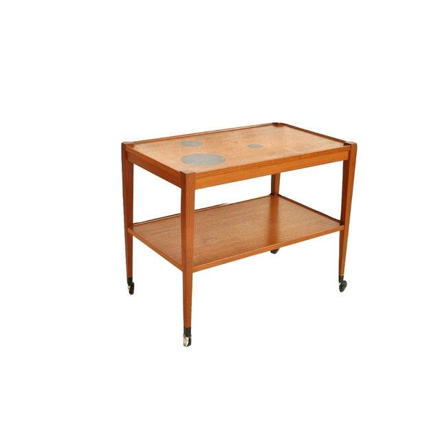 Danish Teak Bar Cart - Image 2 of 2