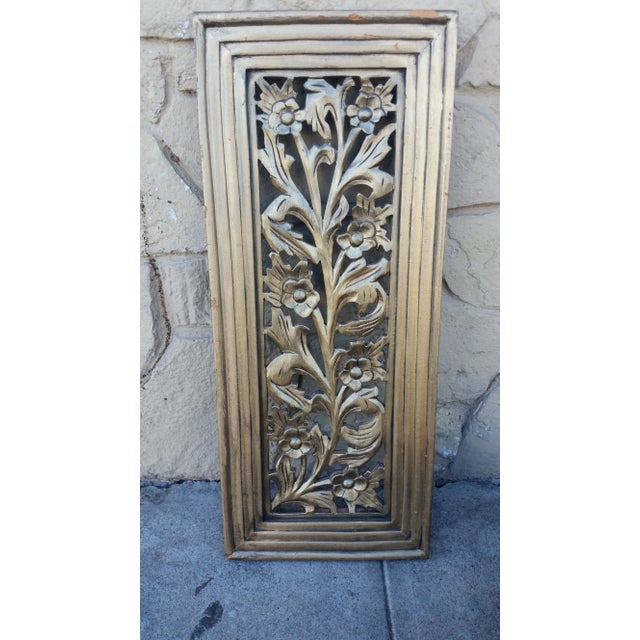Image of Gilded Floral Panel