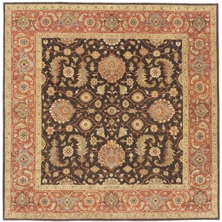 Indian Hand Made Square Rug- 8′1″ × 8′1″