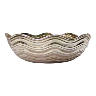 Large Tiffany Sterling Silver Shell Dish