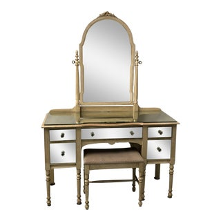 1930s Mirrored French Style Vanity / Desk