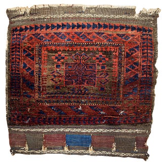 "1880s Antique Afghan Baluch Bag Face - 1'11"" X 1'11"""