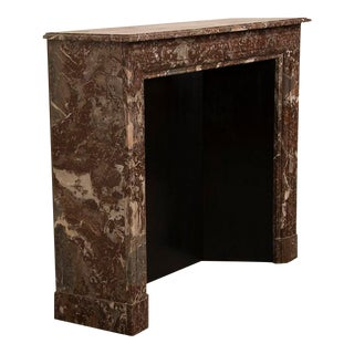 "Louis XIV Style ""Levanto Rouge"" Marble Fireplace Mantel, France c.1875"