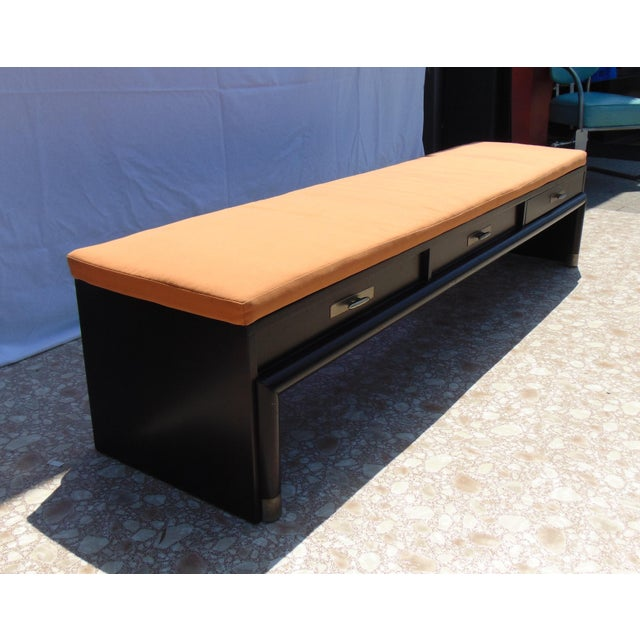 3 Drawer Coffee Table Bench With Cushion Chairish