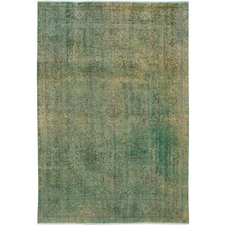 """Green Persian Overdyed Rug - 6'8"""" x 9'11"""""""