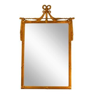 French 19th Century 22kt Gold Gilt Mirror