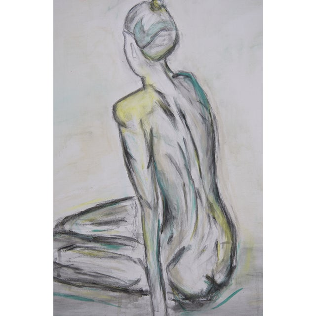 Sitting Nude- Figure Painting, Original & Abstract - Image 3 of 4