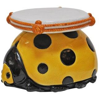Italian Ladybug Ceramic Stool