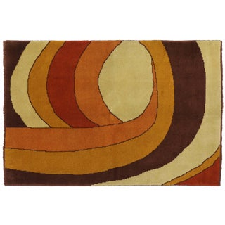 Vintage Swedish Rug with Mid-Century Modern Style - 5′6″ × 8′
