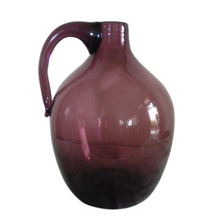 Vintage Hand-Blown Glass Jug