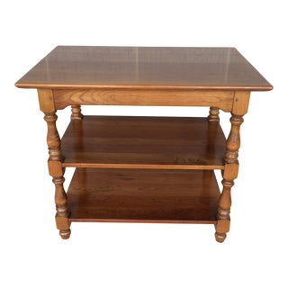 Circa 1958 L. Stickley Cherry Valley 3 Tier Accent Table