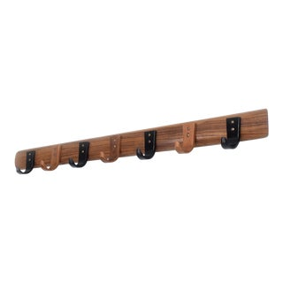 Mid-Century Modern Wood Coat Rack