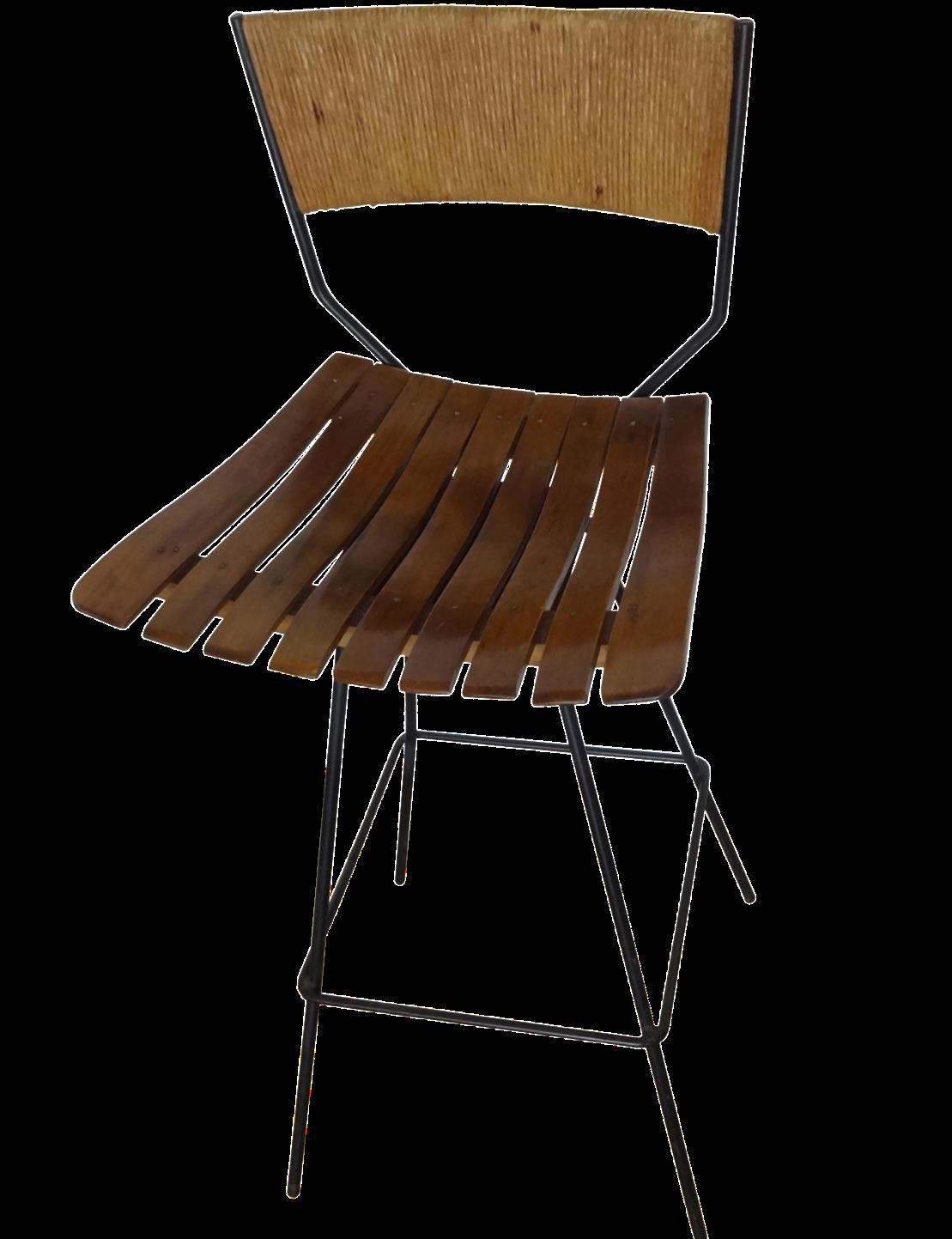 Authur Umanoff Iron Bar Stool Chairish