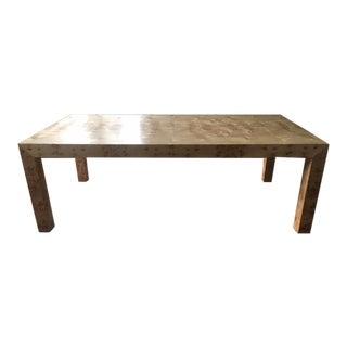Custom Parson's Style Burlwood Dining Table
