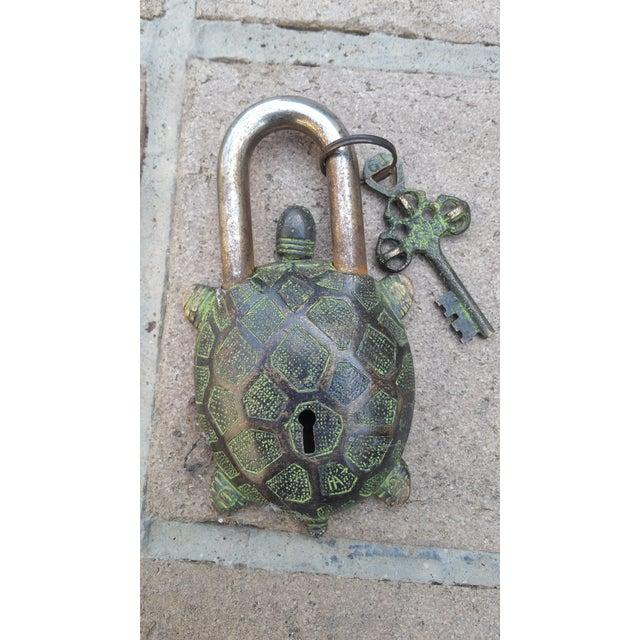 Bronze Turtle Mystery Lock - Image 2 of 3
