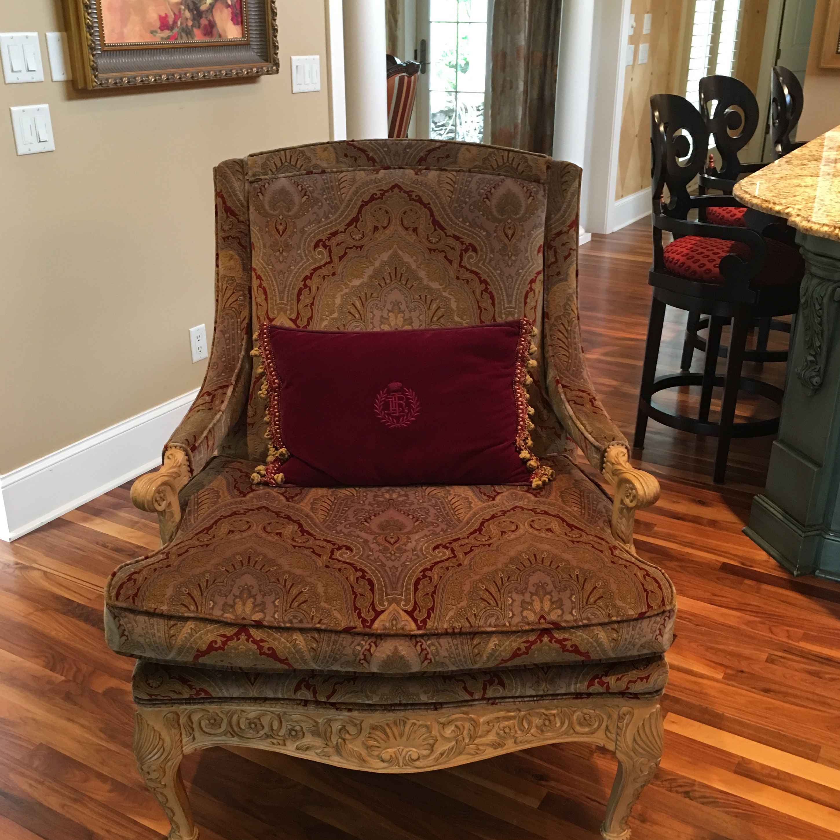 Louis XV French Style Bergere Accent Chair   Image 9 Of 9