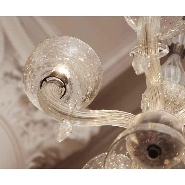 Segusa Mid-Century Modern Blown Glass Chandelier - Image 7 of 10