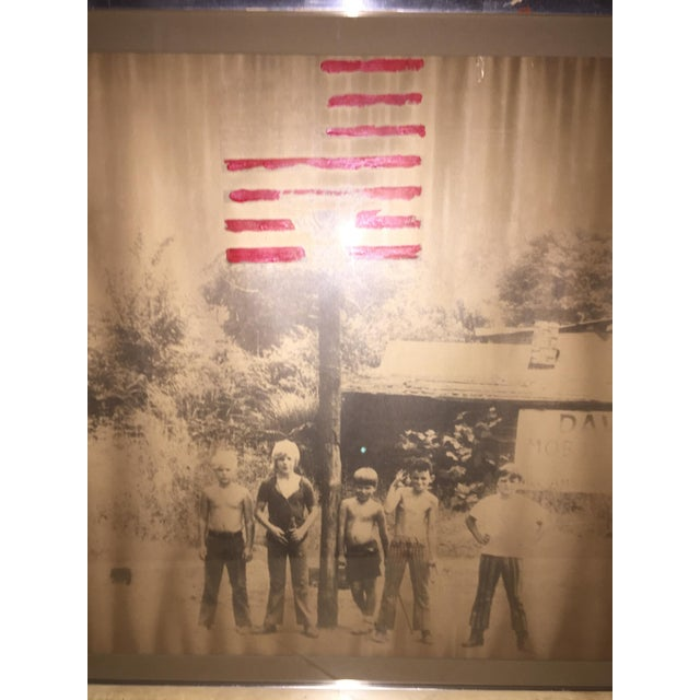American Boys in the 70's Framed Painted Photo - Image 3 of 4