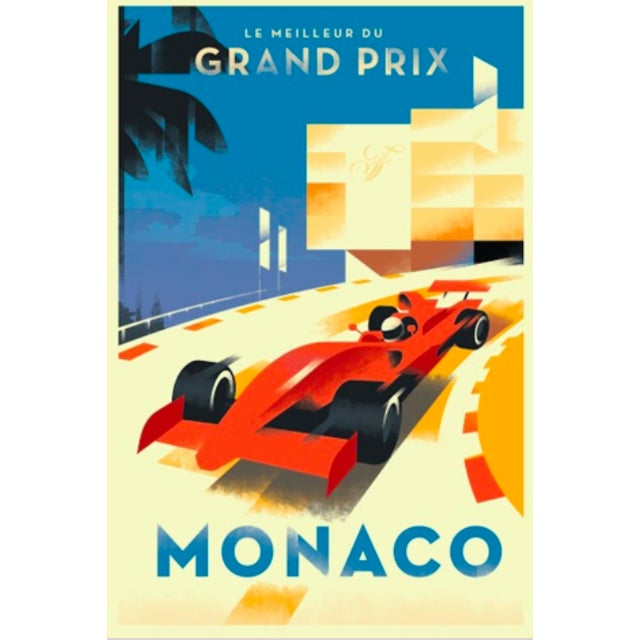 Monaco Grand Prix Contemporary Retro Design Poster - Image 2 of 2