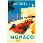 Image of Monaco Grand Prix Contemporary Retro Design Poster