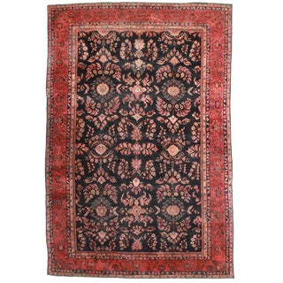 RugsinDallas Antique Hand Knotted Wool Persian Mahal Rug - 12′5″ × 18′7″