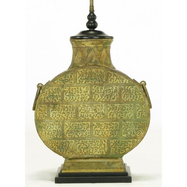 Pair Monumental Bronze Chinese Urn Table Lamps - Image 4 of 9