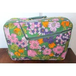 Image of Vintage 60's Floral Fabric Overnight Suitcase