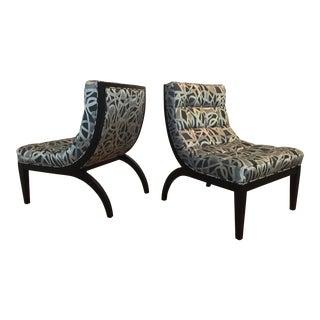 Thayer Coggin Slip Chairs - A Pair