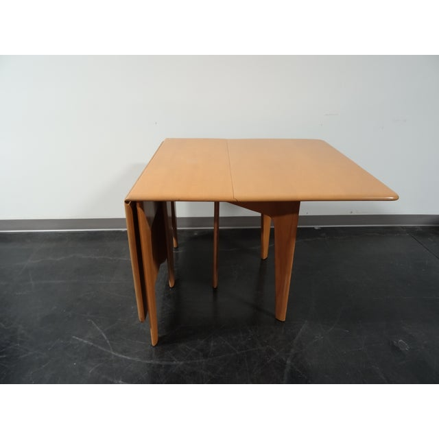 Heywood Wakefield Wheat Gate Leg Drop Leaf Table - Image 6 of 11
