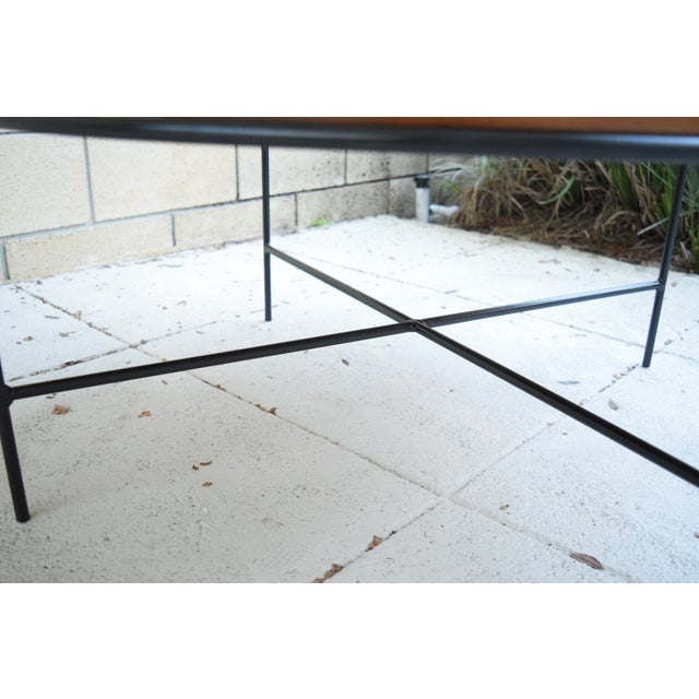 Paul McCobb Mid Century Modern Iron Base Round Coffee Table - Image 6 of 11