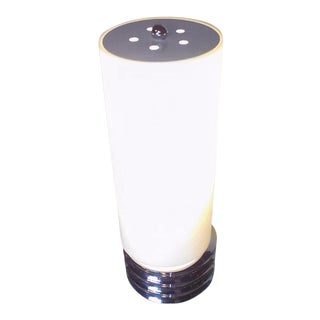Modern Cylindrical Chrome Table Lamp