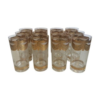 Gold Georges Briard Glasses - Set of 12
