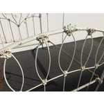 Image of Antique French Country Full Iron Bed Frame Farmhouse Chic Headboard