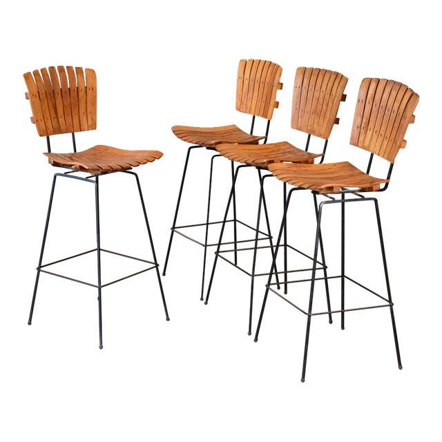 Image of Arthur Umanoff Bar Stools- Set of 4