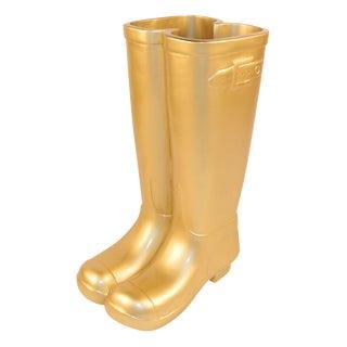 Gold Les Bottes Umbrella Stand