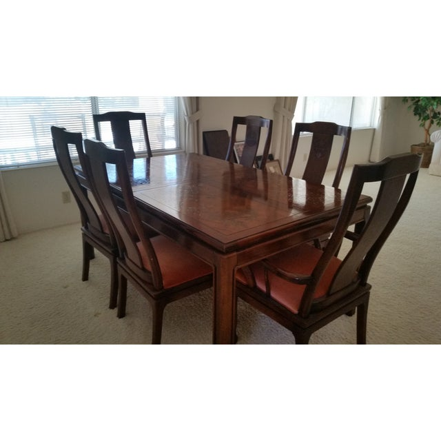 Vintage bernhardt shibui dining table chairs chairish