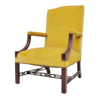 19th Century Chippendale Library Chair