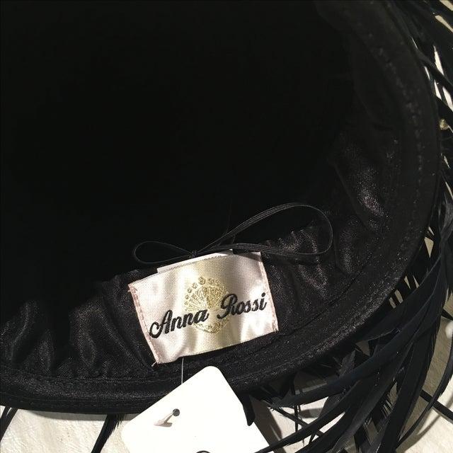 Vintage Feather & Rhinestone Hat - Image 6 of 6